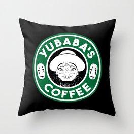 Yubaba's Coffee Throw Pillow