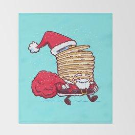 Santa Pancake Throw Blanket