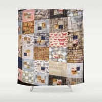 quilt Shower Curtains featuring Quilt by Shenreice