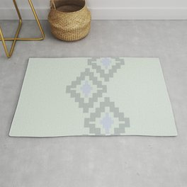 South of the Border Stripe No. 7 in Sage Bush Green Rug