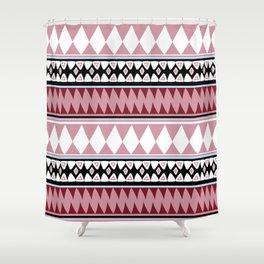 Bohemian Style R&W Shower Curtain