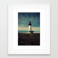 lighthouse Framed Art Prints featuring Lighthouse by Yellowstone Photo Studio
