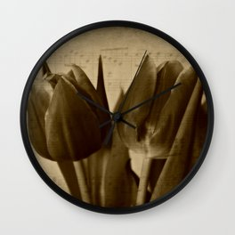 Musical Tulips Wall Clock