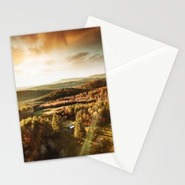 vermont aerial view  Stationery Cards