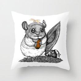 a little chinchilla Throw Pillow