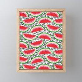 Watermelon Pattern Framed Mini Art Print