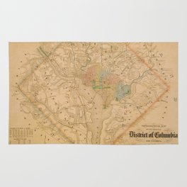 Civil War Washington D.C. Map Rug