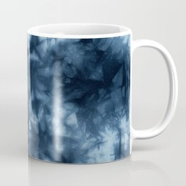 Dark Midnight Blue Boho Tie Dye Pattern Coffee Mug