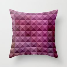 Byzantium Purple Abstract Low Polygon Background Throw Pillow