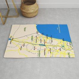 Israel Map design Rug