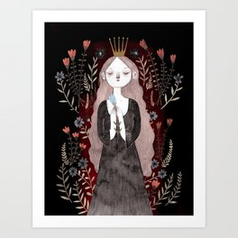 »Am not I the most beautiful queen in the world?« Art Print