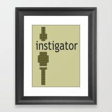8-Bitstigator Framed Art Print