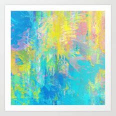 Splattered Art Print