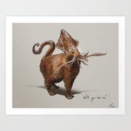 Squitten Art Print