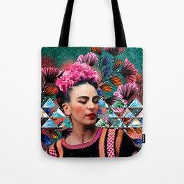 Flowery Frida Tote Bag