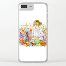 A girl with a kitten vol.4 Clear iPhone Case