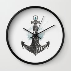 You're going to need a bigger boat Wall Clock