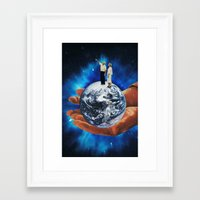 vector Framed Art Prints featuring Vector by tareco