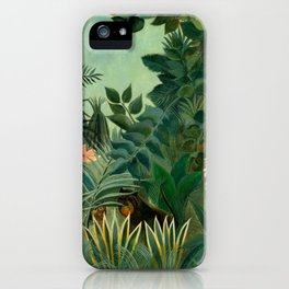 "Henri Rousseau ""The Equatorial Jungle"" iPhone Case"