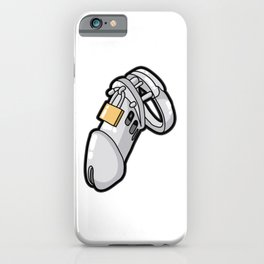 MALE CHASTITY DEVICE CUCKOLD SLAVE SUB Penis Cage iPhone Case