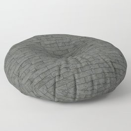 Grey Stone Bricks Wall Texture Floor Pillow