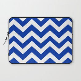 UA blue - blue color -  Zigzag Chevron Pattern Laptop Sleeve