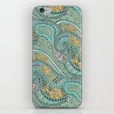 mosaic fish mint iPhone & iPod Skin