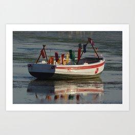 Boat at Paracas Bay, Pisco, Ica, Perú Art Print