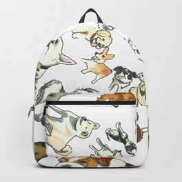 Dog Swirl World Backpack