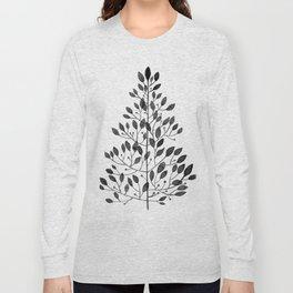black sprig drawn in ink Long Sleeve T-shirt