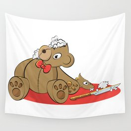 Teddy Revamp Wall Tapestry