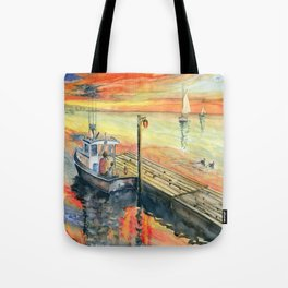 A Delightful Evening Tote Bag