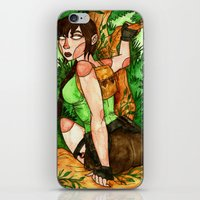 lara croft iPhone & iPod Skins featuring Lara Croft by Jazmine Phillips