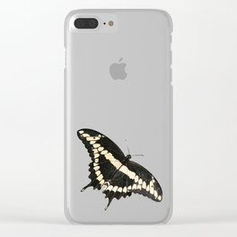 Butterfly Illustrated Print Clear iPhone Case