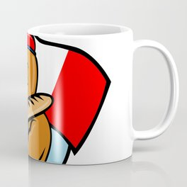 French Eagle Holding Flag and Baguette Cartoon Coffee Mug