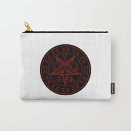 Wiccan symbols- Cross of Sulfur, Triple Goddess, Sigil of Baphomet and Lucifer Carry-All Pouch