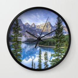 Moraine Lake #landscape #photography Wall Clock