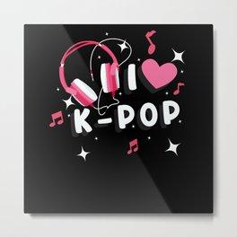 I Love K-Pop Metal Print