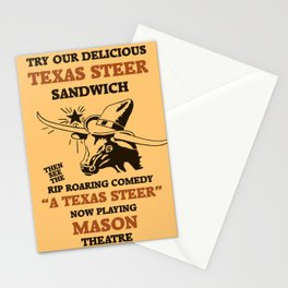 Texas Steer Sandwich Stationery Cards