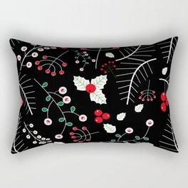 mistletoe black Rectangular Pillow