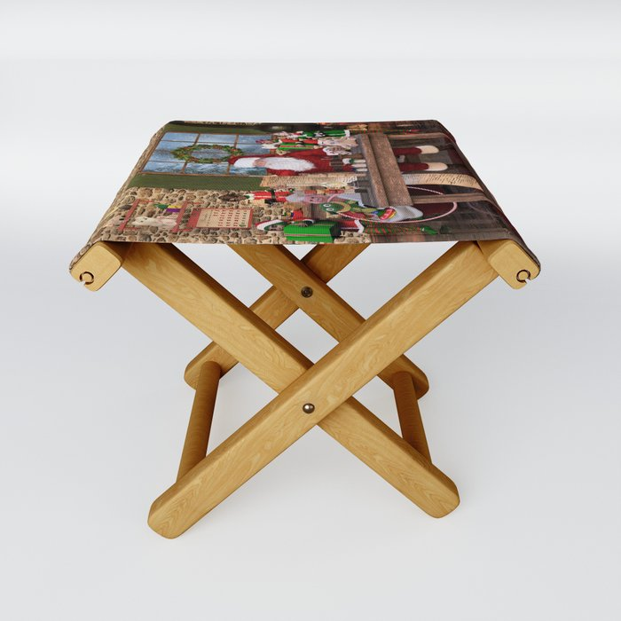 Santa S Workshop Folding Stool By Digitalcuriositydesigns