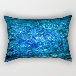 Water Color - Dark Blue - Navy Rectangular Pillow