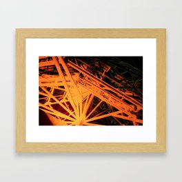 Roof Strut Abstract in Orange Framed Art Print