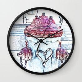 Love Fire Hydrant Wall Clock