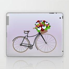 Bicycle Pansies Laptop & iPad Skin