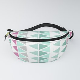 Modern geometric triangles Fanny Pack