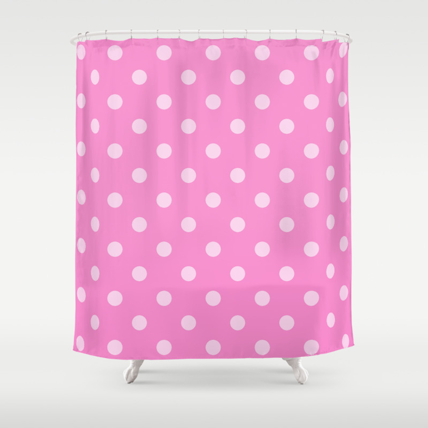 Pink Polka Dots Shower Curtain By Kcavender Society6