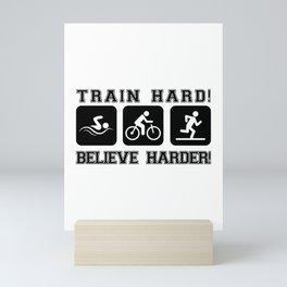Triathlon Train Hard Gift Mini Art Print