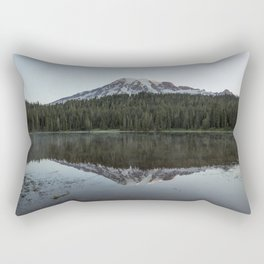 Sunrise at Reflection Lake - Mount Rainier Rectangular Pillow