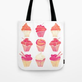 Cupcake Collection – Pink & Cream Palette Tote Bag